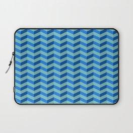 Shades of Blue Chevron Laptop Sleeve