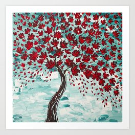 Red Cherry Tree Art Print