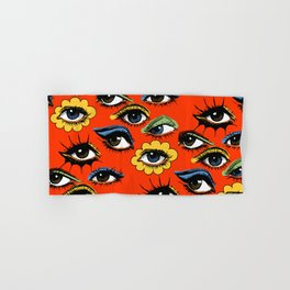 60s Eye Pattern Hand & Bath Towel