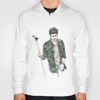 zayn Hoodies featuring Zayn Floral by Coconut Wishes