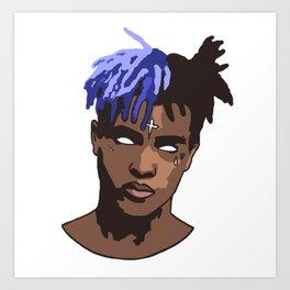 XXX BLUE Art Print