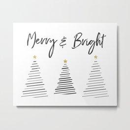Merry & Bright Metal Print
