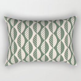 Mod Leaves in Olive and Cream Rectangular Pillow
