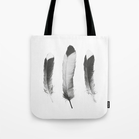 Feathers Sketch Tote Bag