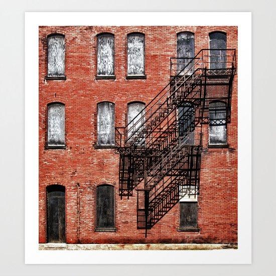 Tenement facade  Art Print