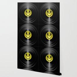 Vinyl headphone smiley Wallpaper