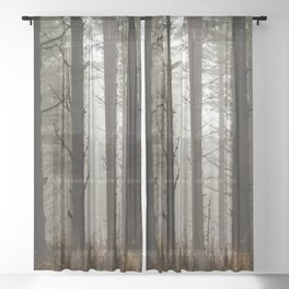 Adventure Forest XIII - Pacific Northwest Wanderlust Sheer Curtain