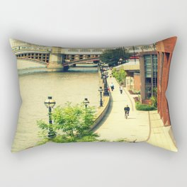 Along the River Thames. Rectangular Pillow