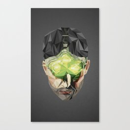 Triangles Video Games Heroes - Sam Fisher Canvas Print