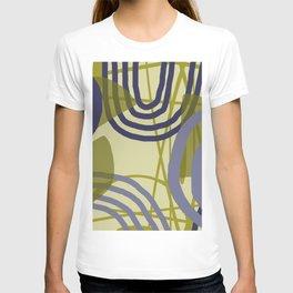 Round lines geometric pattern Design T-shirt