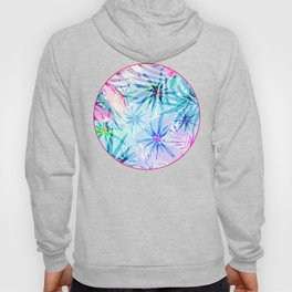 Flashy Colorful Tropical Flowers Design Hoody