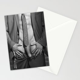 Man in Suit - Naked man in closeup #1745 Stationery Cards