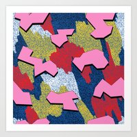 Memphis Pattern - Primary Art Print