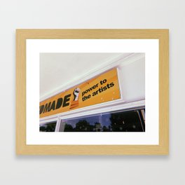 Power to the Artists Framed Art Print
