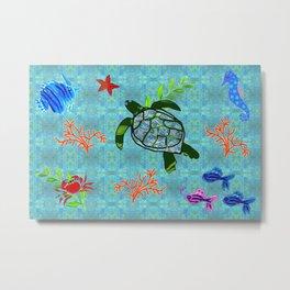 zakiaz turtle Metal Print