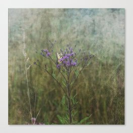 Eastern Tiger Swallowtail Butterfly on Ironweed Wildflower Canvas Print