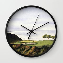 Torrey Pines South Golf Course Hole 3 Wall Clock