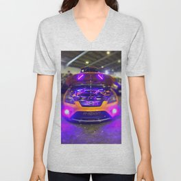 Blurred Lights from the Focus Unisex V-Neck