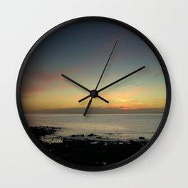 Kimmeridge Bay Sunset #2 Wall Clock