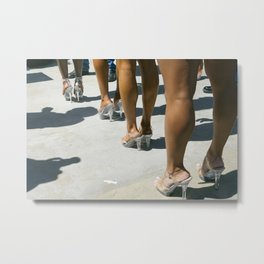 Back stage Stilettos at Muscle Beach Metal Print