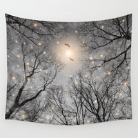 kubrick Wall Tapestries featuring Nature Blazes Before Your Eyes 2 (Ash Embers) by soaring anchor designs