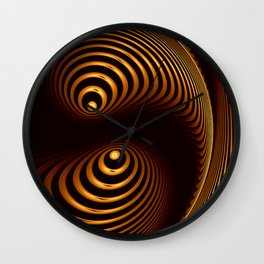 Abstract in copper tones Wall Clock