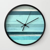 salt water Wall Clocks featuring Salt Water by T30 Gallery