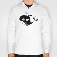 killer whale Hoodies featuring Killer Whale & Fish by markmurphycreative