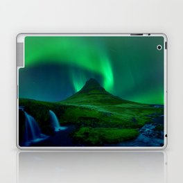 Northern Lights Over Kirkjufell Mountain, Iceland Laptop & iPad Skin