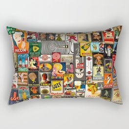 Vintage Liquor by John Logan Rectangular Pillow