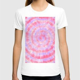 Modern abstract pink lavender blue watercolor tie dye T-shirt