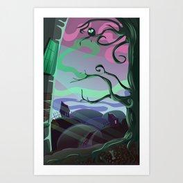 Spooky place Art Print