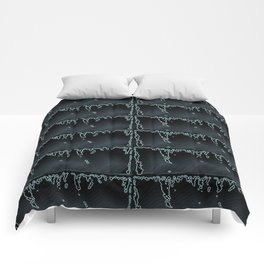 Black Beauty- Black and Grey Raindrop Abstract Pattern Comforters