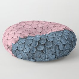 SHELTER / rose and light blue Floor Pillow