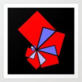 moving squares -12- Art Print