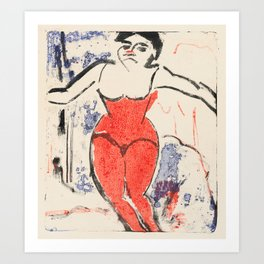 Ernst Ludwig Kirchner - Performer Bowing 1909 Art Print