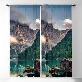 Pragser Wildsee Lake in Prags Dolomites Blackout Curtain