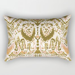 PRIDE INSIDE Lion Tribal Gold Peach Rectangular Pillow