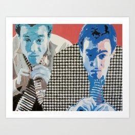 Man in a Houndstooth Suit [A Portrait of Nolan Farrell] Art Print