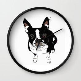 Boston Terrier Cutie Wall Clock