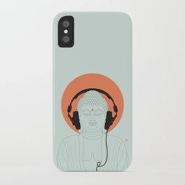 Buddha : Listen to Om! iPhone Case