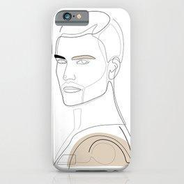 Handsome In Beige iPhone Case