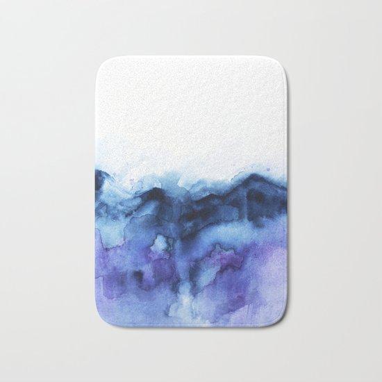 Abstract Indigo Purple Mountians Bath Mat