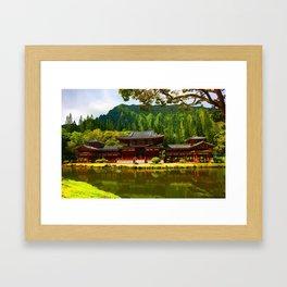 Buddah's Temple 2 ... By LadyShalene Framed Art Print