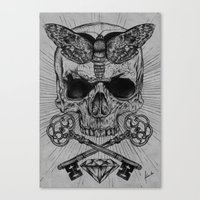 occult Canvas Prints featuring Occult Desire by Anderson Alves
