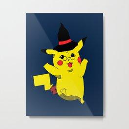 You're a Wizard! Blue Metal Print