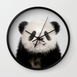 Panda Bear - Colorful Wall Clock
