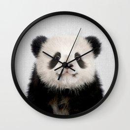 Panda Bear - Colorful Wall Clock