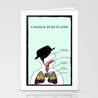 tom waits Stationery Cards featuring VISIBLE TOM WAITS by Jim Lockey