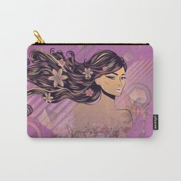 Purple music girl Carry-All Pouch